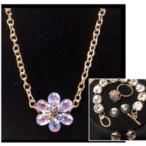 Jewelry - •🏵•SALE•🏵•CRYSTAL FORMAL WEAR NECKLACE SET